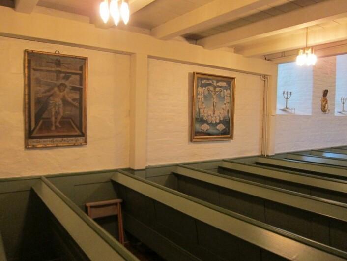 Pasjonsviser i Haug kirke. Foto: NIKU
