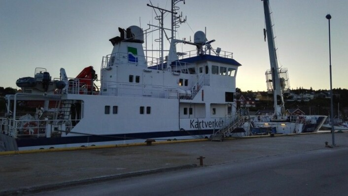 MS «HYDROGRAF»: Etter mobiliseringen dagen før avgang fra Rørvik.