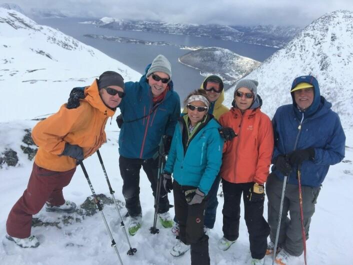 Det er stor forskjel på topptur-ferie i Nord-Noreg og i Alpane. (Foto: Dominik Siegrist)