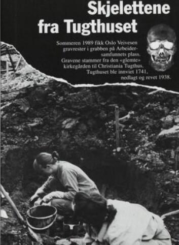 De glemte døde på Arbeidersamfunnets plass. (Illustrasjon fra Sjur Harby 1990. Faksimile fra Tidsskriftet St. Hallvard no. 3/1990: 6-14)