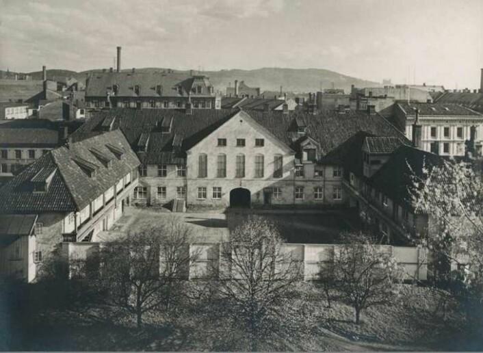 Christiania tugthus ca. 1910. Foto: Olaf Martin Peder Væring. Oslo Museum: image no. OB.F01167