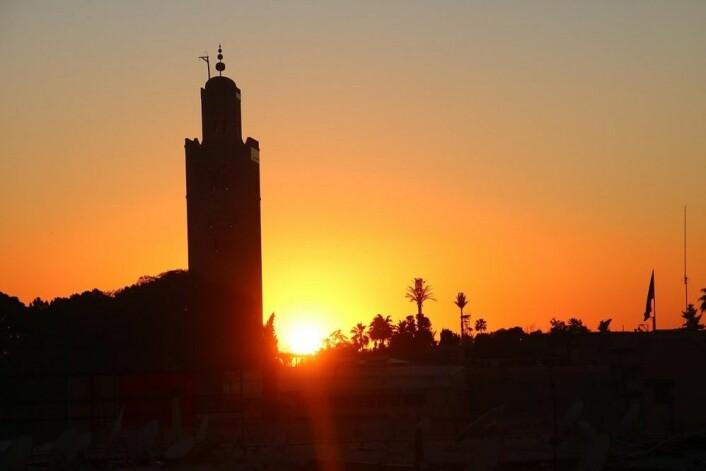 Marrakech i solnedgang. Sommeren 2017 dro jeg tilbake til Marokko for første gang på 40 år. (Foto: Werner100359/Wikimedia, CC BY-SA 4.0)