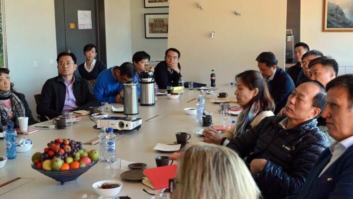 NIH hadde i oktober 2017 besøk av en kinesisk delegasjon ledet av idrettsminister Gou Zhongwen. Foto: NIH