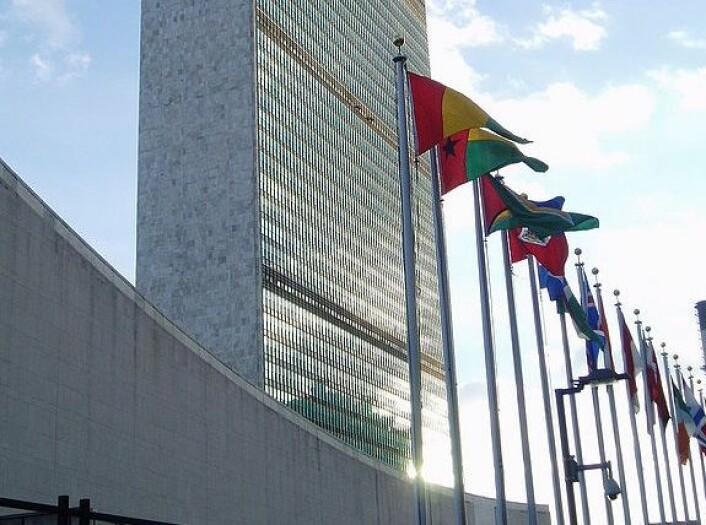 """FN-bygningen i New York. (Foto: Steve Cadman, Steve Cadman, <a href=""""https://commons.wikimedia.org/wiki/File:The_United_Nations_Secretariat_Building.jpg"""">se lisens her</a>)"""
