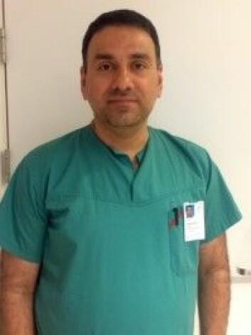 <em>Sinan Dheyauldeen, overlege, øre-, nese- halsavd., OUS. Førsteamanuensis/PhD, UiO. Foto: OUS. </em>