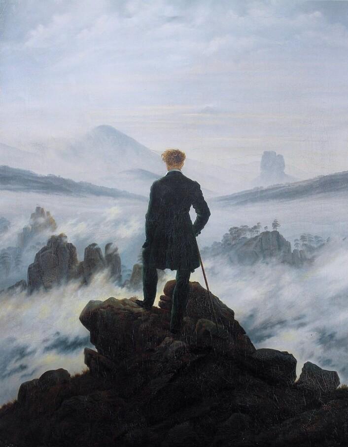 Caspar David Friedrichs Vandrer over tåkehav (1817) er et klassisk maleri som representerer følelsen av å erfare det sublime. (Kunsthalle Hamburg/Wikimedia)