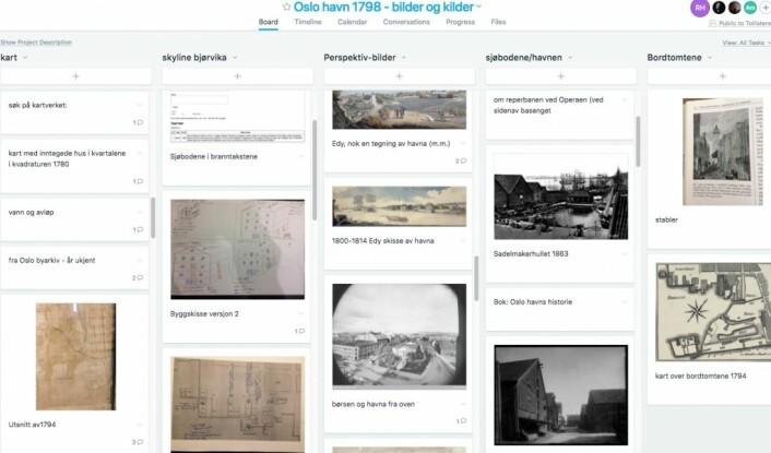 Skjermbilde av bilde- og annet-databasen Tidvis AS