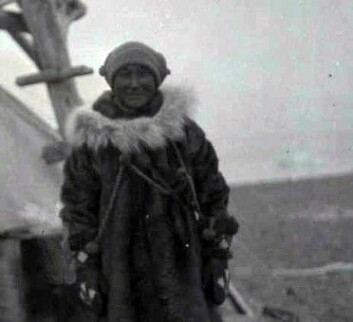 Blackjack i den lille teltleiren ekspedisjonen satte opp på Vrangeløya.<br>(Kilde: Courtesy of Dartmouth College Library)