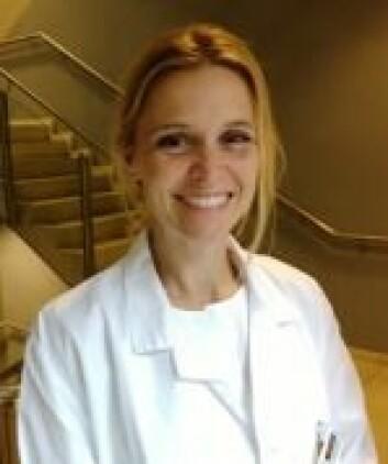 <em>Marte Reigstad, lege i spesialisering/postdoktor, Nasjonal kompetansetjeneste for kvinnehelse. Foto: OUS</em>
