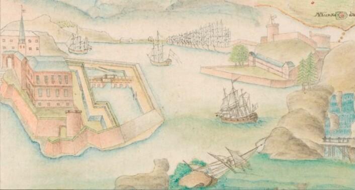 Utsnitt av P. Stockfleths kart fra 1784 P. Stockfleth