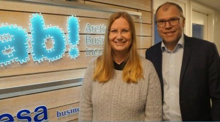 Kristina Öhman og Jens Lundström ved Arctic Business Incubator i Luleå i Sverige, et av ESAs Business Incubation Centres i Europa. (Foto: ABI)