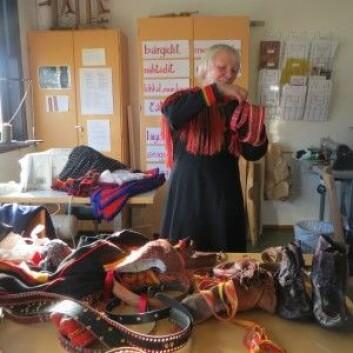Kjersti Myrnes Balto, leder ved Várdobáiki samisk senter, er en viktig ressursperson i det markasamiske området. (Foto: Berit Nystad Eskonsipo)