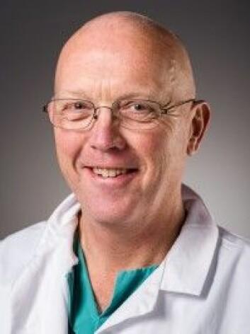 Knut Lundin, overlege og professor, OUS. Foto: Øystein Horgmo.