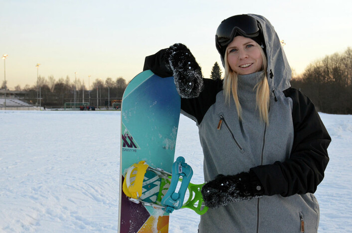 Bilde: Anna-Maria Strittmatter mener andre actionsporter kan lære mye av den vanskelige historien om snowboard i OL. Foto: NIH