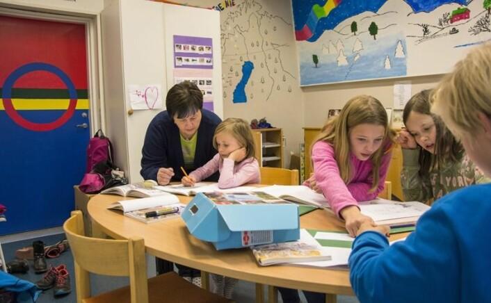 Talet på elevar med samiskopplæring i Tromsøs barneskular er nær dobla på to år. Illustrasjonsfoto: Strömsunds kommun