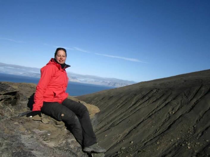 Dr. Koevoets i felt på Svalbard Foto MJ Koevoets