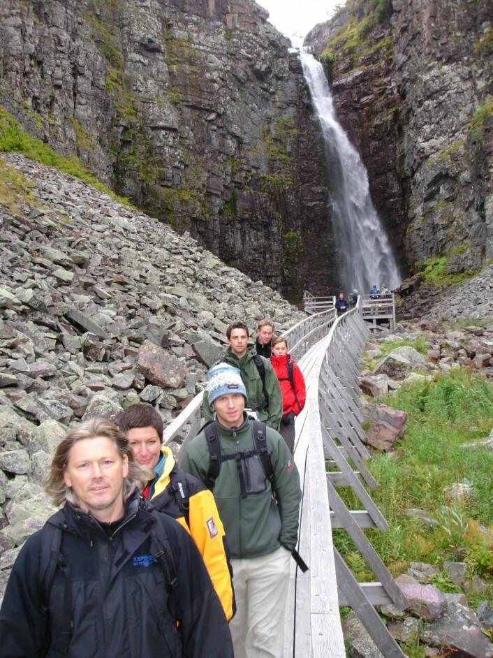 I 2005 startet de første studentene ved det som i dag er naturbasert reiseliv. Foto: Stian Stensland