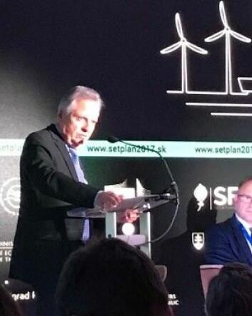 Åpning av SET Plan årskonferanse og 10 års Jubileum. Dominic Ristori, Director General Directorate General for Energy European Commision innleder. (Foto: Johan Hustad/NTNU Energi)
