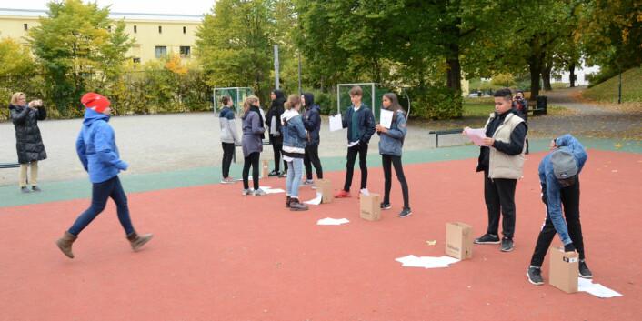 Bjølsen skole i Oslo har vært pilotskole for økt fysisk aktivitet på ungdomstrinnet. (Foto: NIH)