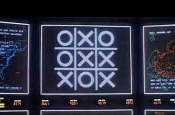 """Skjermdump fra filmen """"War Games"""" (1983)."""