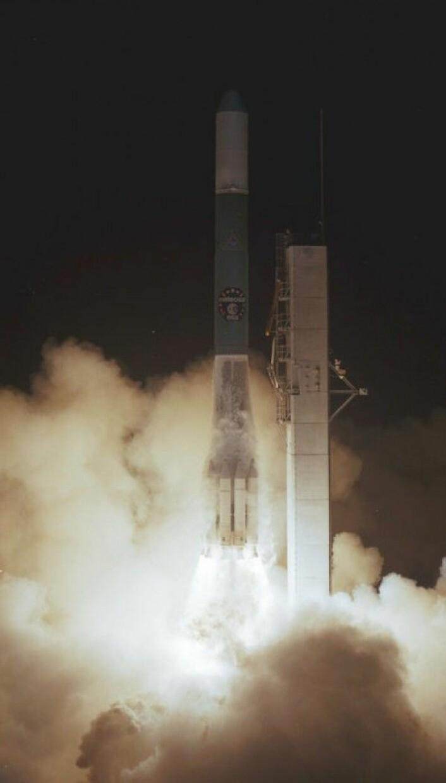 Meteosat-1 ble skutt opp 23. november 1977 fra Cape Canaveral. NASA/ESA