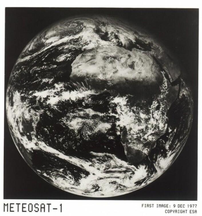 Det første bildet fra Meteosat-1. ESA