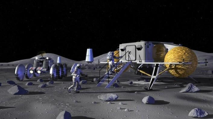 Amerikansk-russisk samarbeide om simulering av en reise til Månen ble innledet i Moskva 7. november 2017. Denne illustrasjonen er laget av NASA.
