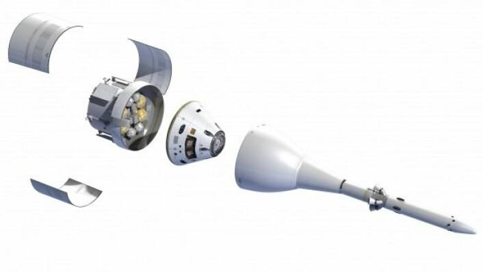 Orion skal frakte astronauter til månen og til Mars. ESA/D. Ducros