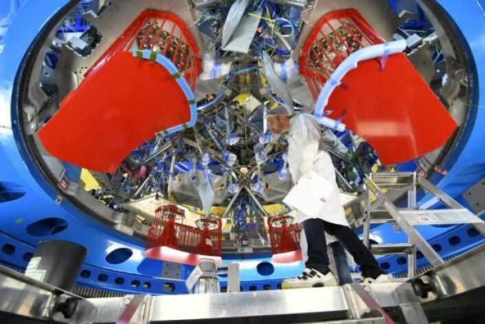 Den europeiske servicemodulen til det nye romfartøyet Orion under bygging i Bremen. ESA