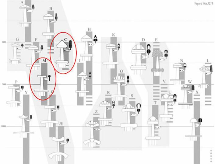 I sin avhandling fra år 1919, <em>De norske vikingesverd : en typologisk-kronologisk studie over vikingetidens vaaben</em>, presenterer arkeolog Jan Petersen en metode for datering av sverd fra vikingtid. Sverdet fra Lesja inneholder elementer fra to av Jan Petersens sverdtyper.