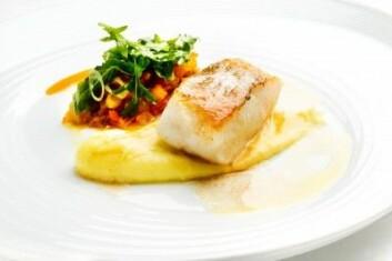 Den lekre torsken på tallerkenen var større før den ble stekt. Når fisk og kjøtt varmes opp, trekker de seg sammen. Forskere vet litt om hvordan det skjer, men ikke alt. (Foto: Norwegian Seafood Council)