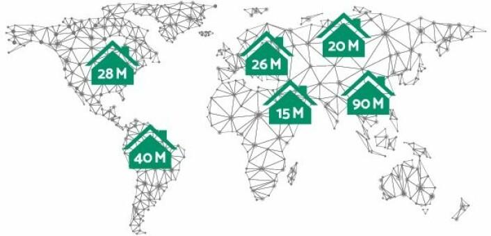 Fra et markedsstudie utført av KPMG. Millioner av husstander er potensielle kunder i Hygengroup sitt scenario for naturgass-hjemmestasjoner.<br>Husholdninger i EU forbruker en firedel av energiforbruket i EU. Drøyt en tredel av husholdningenes energiforbruk kommer fra naturgass (ca 35%). (Eurostat)<br>Foto: Screengrab fra Hygengroup sin nettside hygengroup.com