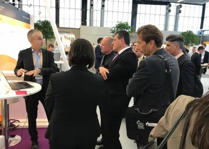 """Topp stemning på InnoEnergy sin Business Booster. De kaller seg """"the leading innovation event in sustainable energy"""". Mer enn 160 bedrifter presenterte seg, og jeg fant flere veldig interessante.<br>Foto: Johan Hustad/NTNU Energi"""