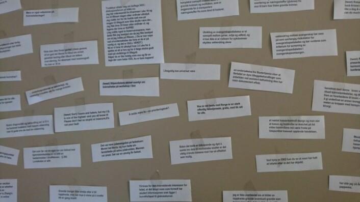 Løsrevne sitater til tross– få ord kan være nok til å fortelle en god historie. (Foto: Privat)