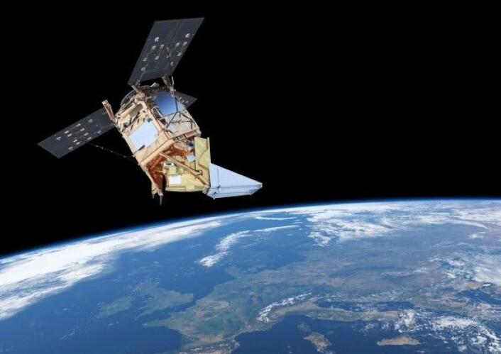 Sentinel-5P skal måle luftkvaliteteten over hele verden og blir skutt opp i slutten av september 2017. ESA/ATG medialab