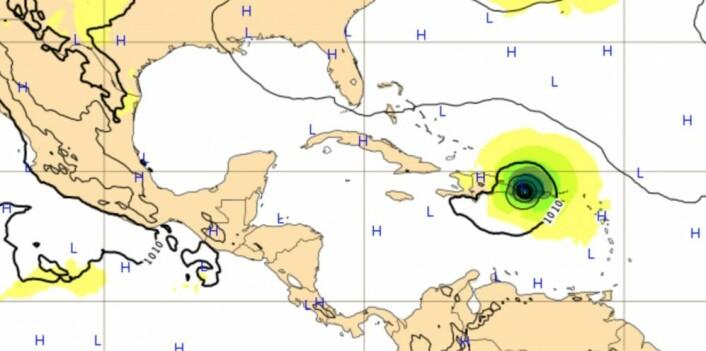 Mer trøbbel på gang for øyene i Karibien. (Bilde: ECMWF)