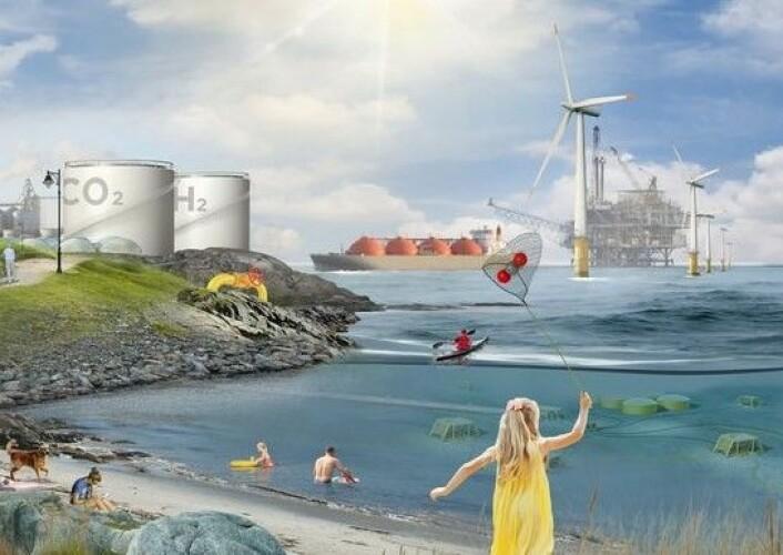 Hydrogen fra naturgass kan være en miljøvennlig løsning i fremtiden. Foto: SINTEF/NTNU/Oxygen