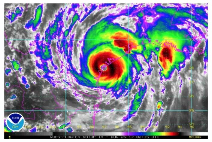 """""""Texas - here I come!"""" (Bilde: NOAA)"""