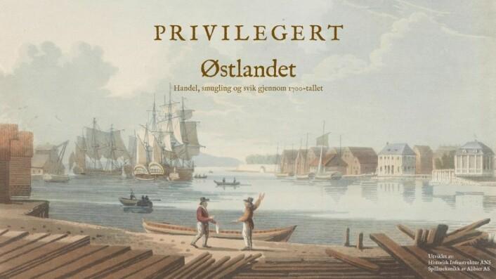 Østlandsdelen av spillet Privilegert Deisgn: T. Hansen