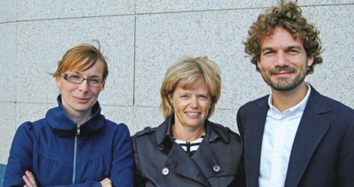 Fra venstre: Charlotte Knatten, Kristin Bjørnland og Thomas Fyhn. (Foto: Trine Sæther Hagen)