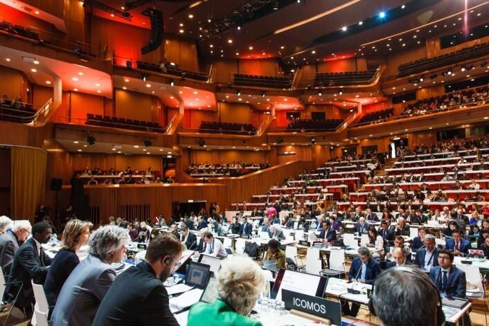 Fra det 41. verdensarvmøtet. Foto: © fot. Bartłomiej Banaszak, Narodowy Instytut Dziedzictwa, CC BY-SA 2.0