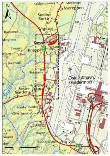Oversiktskart. Lokalitetene er markert med rødt. Kart: UiO
