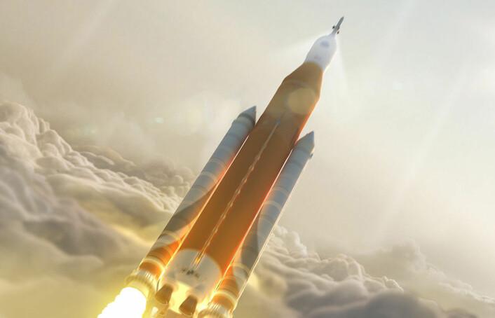 Space Launch System og Orion-romkapselen spiller nøkkelroller i de nye planene til industrigigantene Boeing og Locheed Martin for ferder utenfor jordbane. (Illustrasjon: NASA)