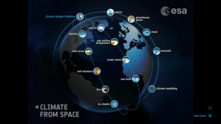 Climate From Space er en gratis interaktiv bok for de som vil lære mer om klimaendringer og forskningen på dem. ESA