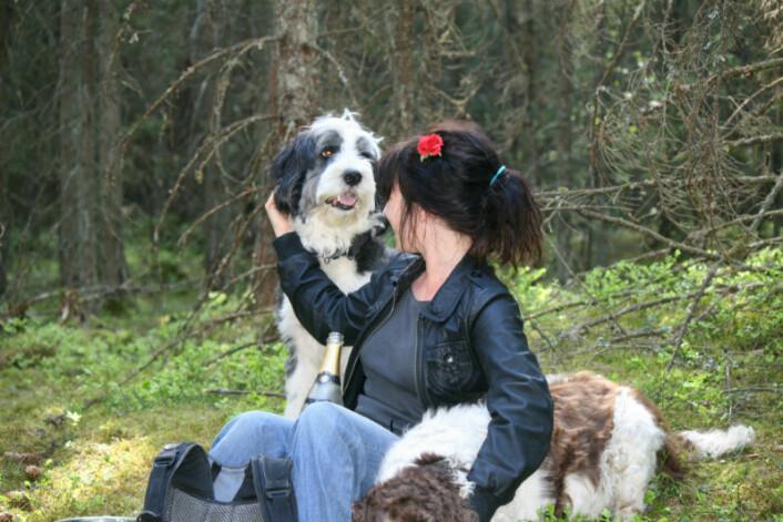 Cumulus og jeg kjører som regel piknik i skogen på 17. mai. (Foto: Vedkommende som var så heldig å få være med det året)