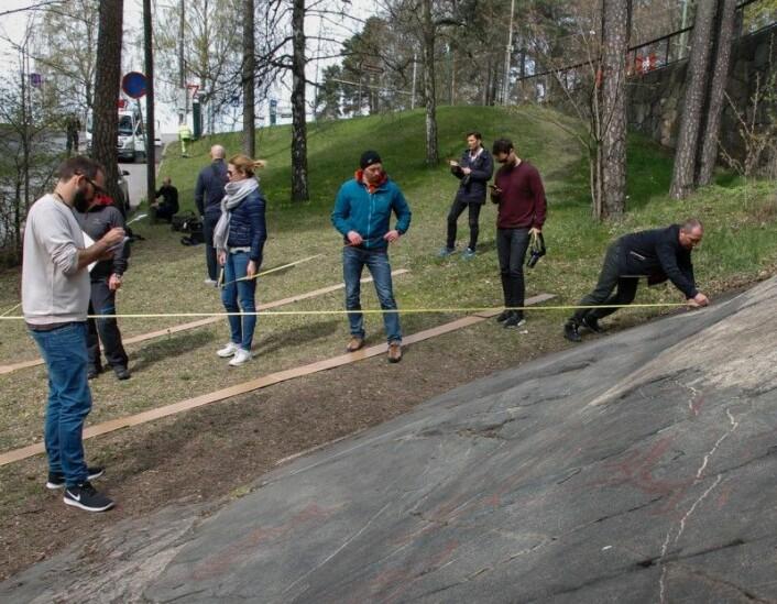 Studenter fra Politihøgskolen i feltøvelse på Ekeberg. Foto: Sten Gunnar Dahl