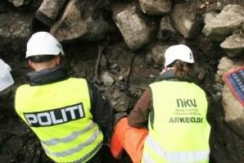 Bilde fra utgravning på Sverresborg festning i Trondheim.(Foto: NIKU)