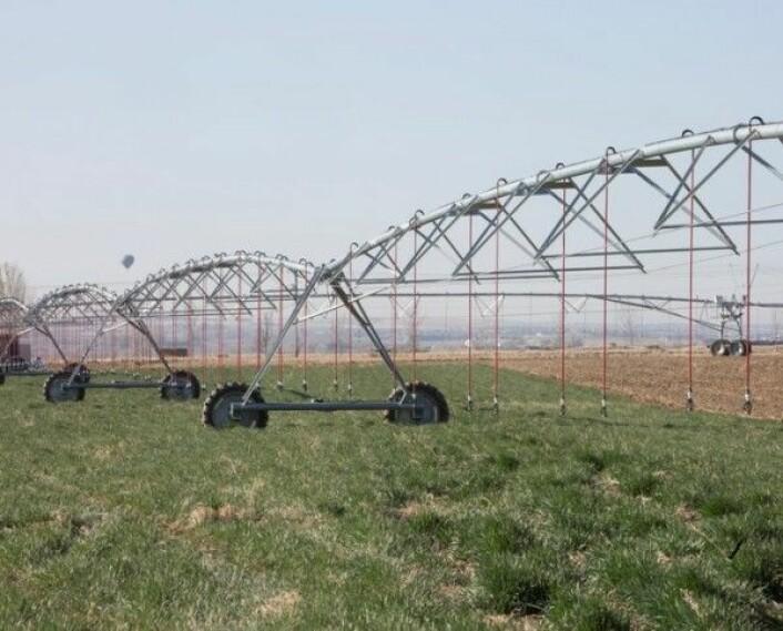 Vanningssystem som går i sirkel i Colorado i USA. Divirod