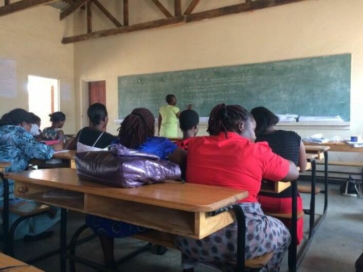 Lærere på kurs.(Foto: Katerini T. Storeng)
