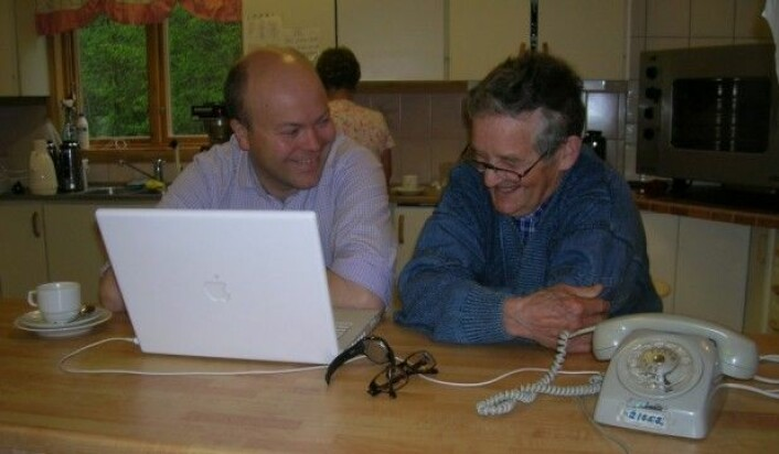 Øystein A. Vangsnes under NORMS-feltarbeidet i Älvdalen i 2007.(Foto: Henrik Rosenkvist)
